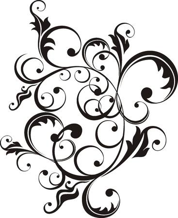 vector floral ornament very easy to edit