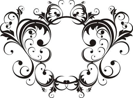 adorn: vector de adornos florales muy f�cil de editar Vectores