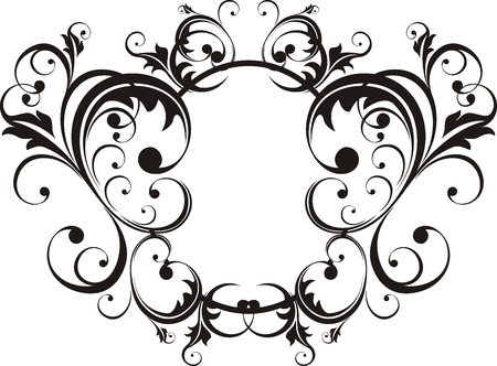vector floral ornaments very easy to edit Stock Vector - 4168271