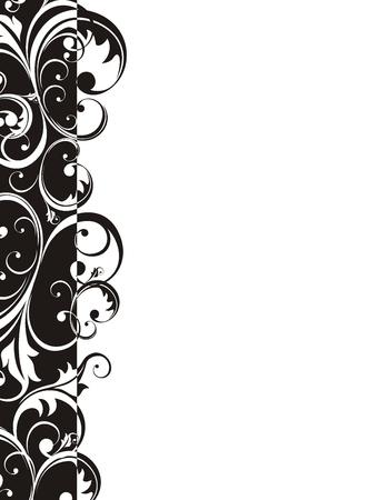 adorn: adorno floral vector muy f�cil de editar
