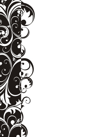 elaborate: vector floral ornament very easy to edit