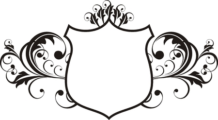 trimmings: vector ornamental shield frame very easy to edit Illustration