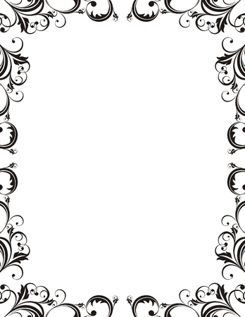 vector ornamental frame very easy to edit
