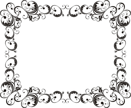 decoration: vector ornamental frame very easy to edit