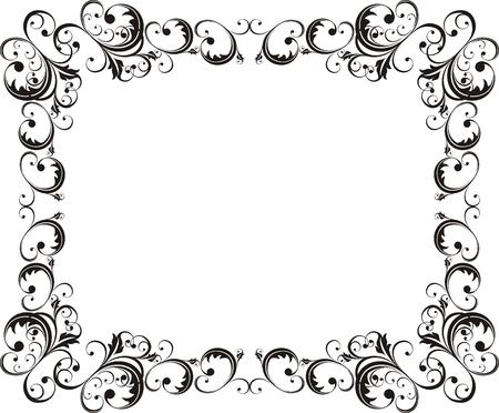vector ornamental frame very easy to edit