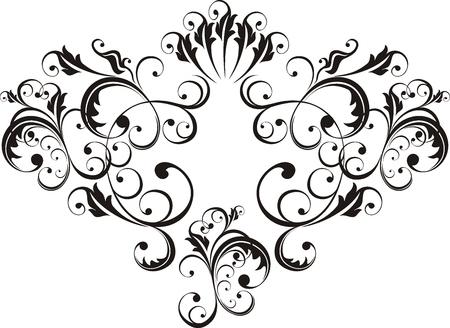 adorn: ornamento vector muy f�cil de editar Vectores
