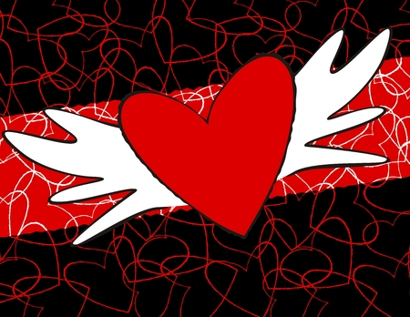 winged heart individual objects very easy to edit