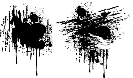 ink stain: isolated grungy ink splats, vector format very easy to edit