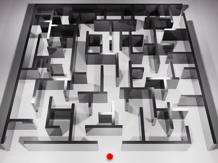 metaphoric image, ball in labyrinth 版權商用圖片
