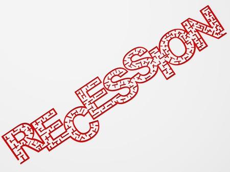 metaphoric economical recession image