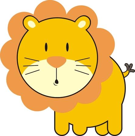 bebé león, cada uno de los objetos muy fácil de editar Ilustración de vector