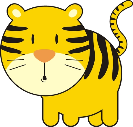 иллюстрация: isolated baby tiger, individual objects very easy to edit Иллюстрация