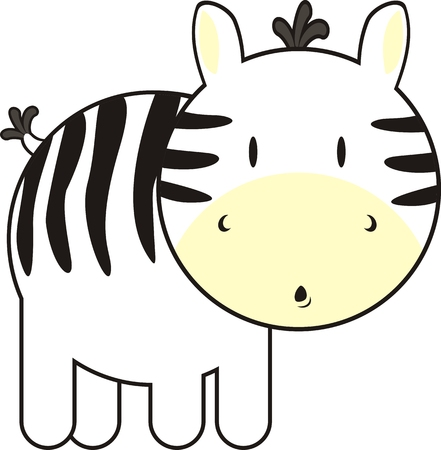 baby zebra, individual objects very easy to edit Vector