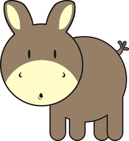 baby ezel, individuele objecten heel gemakkelijk te bewerken