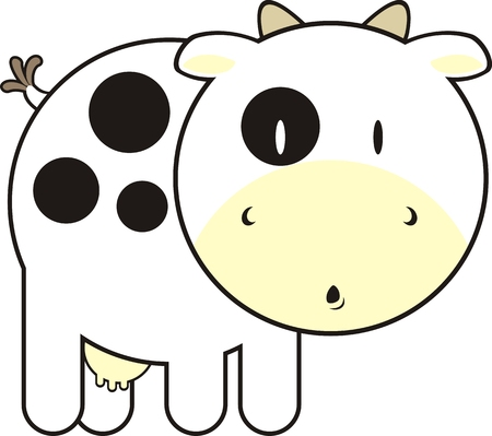 childish cow, individual objects very easy to edit Stock Vector - 4624791