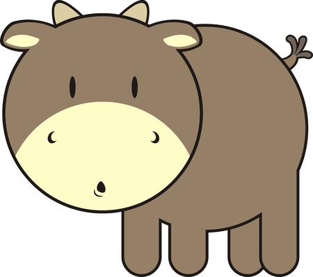little bull, individual objects very easy to edit Stock Vector - 4624793