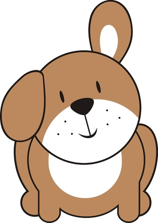 isolated cute puppy Stock Vector - 4624786