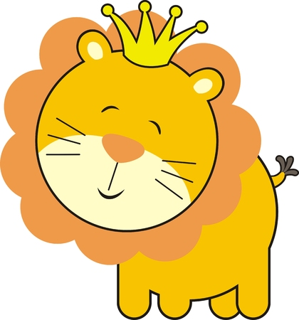 isolated baby lion king Vector