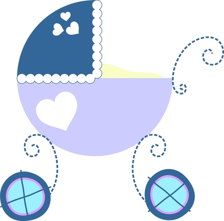 buggy: isolated baby carriage in vector format, individual objects very easy to edit