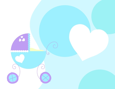 background with baby carriage, vector format very easy to edit Stock Vector - 5078750