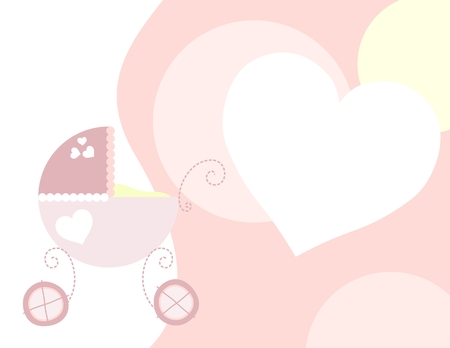 childbirth: background with baby carriage, vector format very easy to edit Illustration
