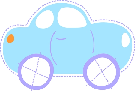 isolated car illustration, very easy to edit Vector
