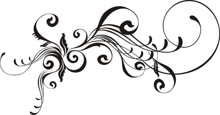 flourishes: isolated vector design elements very easy to edit Illustration