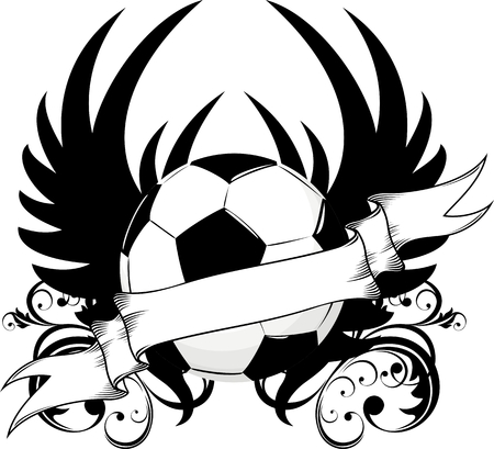 winged soccer ball design