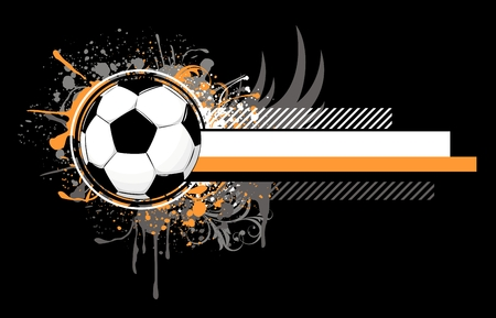 soccer related composition, vector format very easy to edit, individual objects