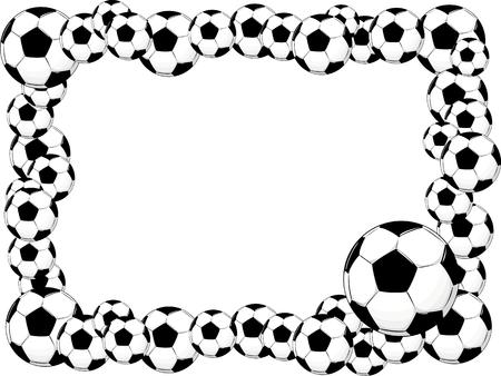 vector borders: soccer balls frame