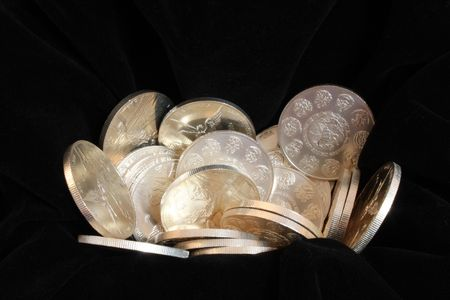 numismatic: pure silver coins from mexico named onza libertad