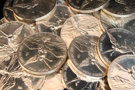 silver coins: many pure silver coins from mexico named onza libertad
