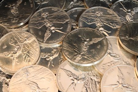 numismatic: many pure silver coins from mexico named onza libertad