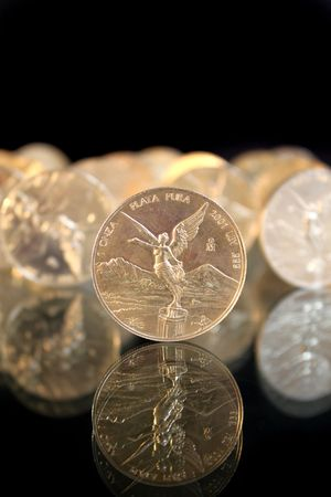 silver coins: pure silver coins from mexico named onza libertad