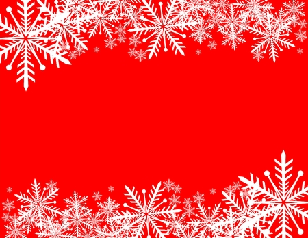 snowflakes background with copy space in vector format very easy to edit Иллюстрация