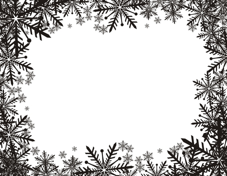 非常に簡単編集するベクトル形式でコピー スペースと雪片の背景  イラスト・ベクター素材