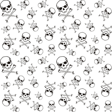 cross bones and skull pattern in vector format very easy to edit, individual objects