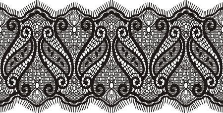 lace pattern: embroidered lace design , individual objects Illustration