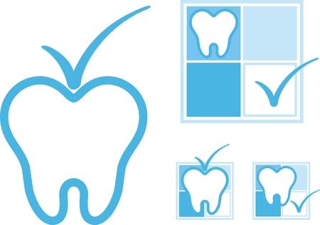 dentistry: set of dental logotype
