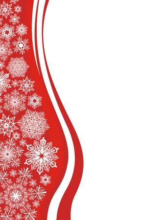 vectorial snowflakes background, design elements very easy to edit