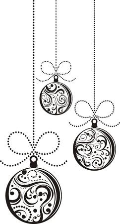 geïsoleerde Kerst ballen met schuift ornamenten