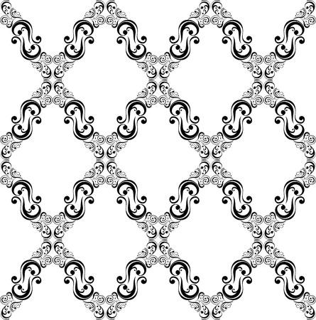 Résumé des ornements décoratifs patron ancien style de mode  Banque d'images - 8199227