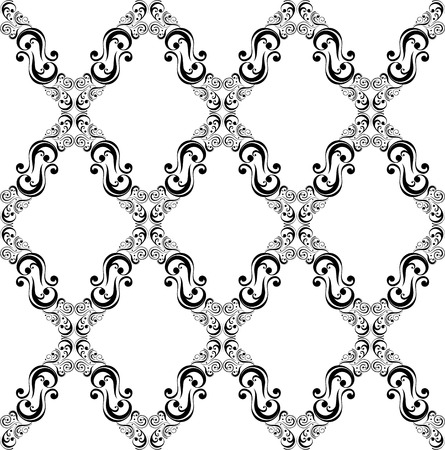 Naadloze: abstract decoratieve ornamenten patroon oude fashion stijl