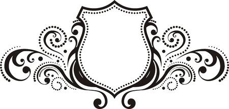 crests: cresta con elementi di design di stile vintage, utilizzare logo, cornice