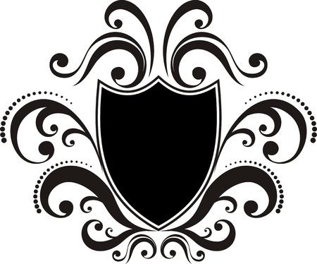 crests: cresta con elementi di design classico, utilizzare logo, cornice