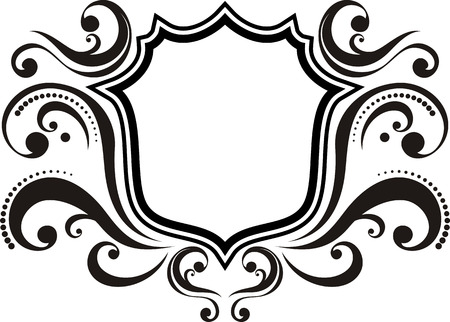 blank emblem with vintage style design elements, use for logo, frame  Stock Vector - 8199221