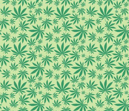 cannabis: Marihuana verl�sst Muster  Illustration