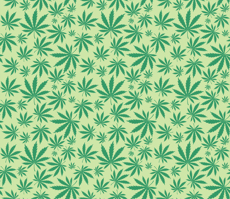marijuana leaves pattern Stock Vector - 8199231