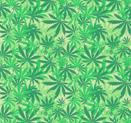 中毒性の: 大麻のシームレスなパターン  イラスト・ベクター素材