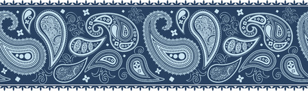 tracery: paisley border pattern in vector format, individual objects very easy to edit